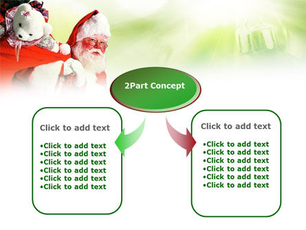 Santa Claus and Presents Bag PowerPoint Template, Slide 4, 00747, Holiday/Special Occasion — PoweredTemplate.com