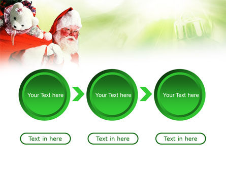 Santa Claus and Presents Bag PowerPoint Template Slide 5