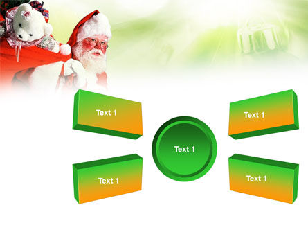 Santa Claus and Presents Bag PowerPoint Template Slide 6