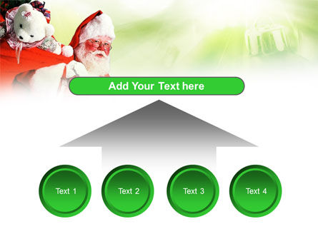 Santa Claus and Presents Bag PowerPoint Template Slide 8