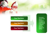 Santa Claus and Presents Bag PowerPoint Template#11
