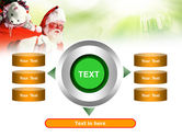 Santa Claus and Presents Bag PowerPoint Template#12