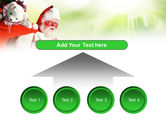 Santa Claus and Presents Bag PowerPoint Template#8