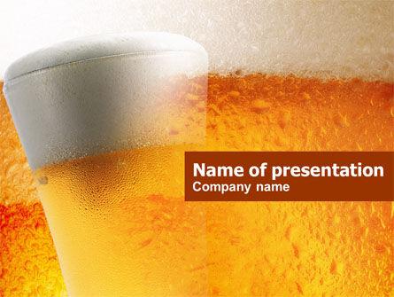 Food & Beverage: Beer Tumbler PowerPoint Template #00750