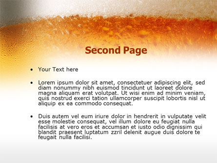 Beer Tumbler PowerPoint Template, Slide 2, 00750, Food & Beverage — PoweredTemplate.com