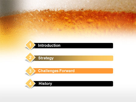 Beer Tumbler PowerPoint Template, Slide 3, 00750, Food & Beverage — PoweredTemplate.com
