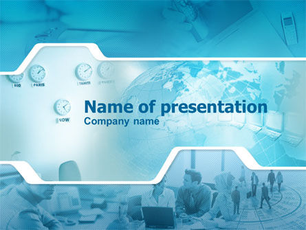 Business Office Center PowerPoint Template, 00751, Business Concepts — PoweredTemplate.com