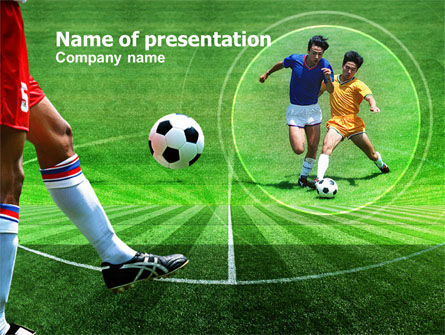 Sports: Football Field PowerPoint Template #00753