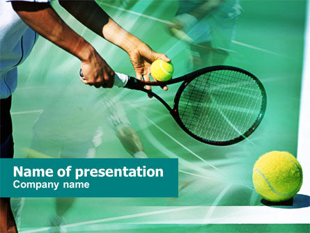 Sports: Tennis Court PowerPoint Template #00754