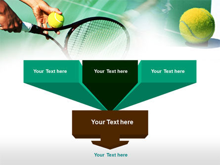 Tennis Court PowerPoint Template, Slide 3, 00754, Sports — PoweredTemplate.com