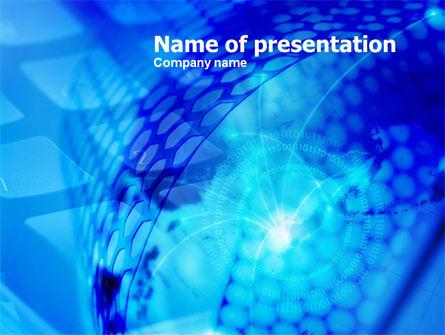 Telecommunication: Modèle PowerPoint de sphère numérique #00755