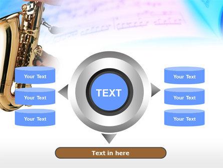 Jazz Saxophone PowerPoint Template Slide 12