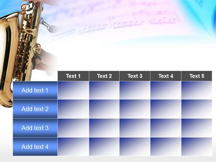Jazz Saxophone PowerPoint Template Slide 15