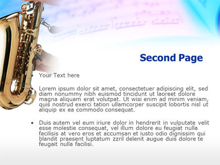 Jazz Saxophone PowerPoint Template, Slide 2, 00757, Art & Entertainment — PoweredTemplate.com