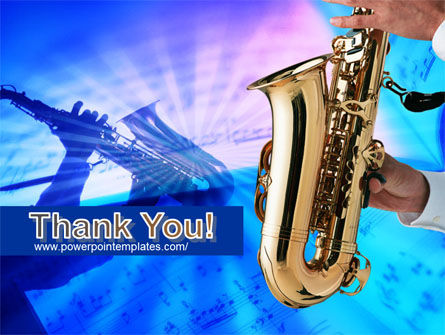 Jazz Saxophone PowerPoint Template Slide 20