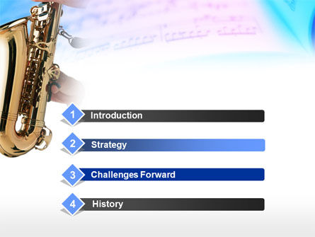 Jazz Saxophone PowerPoint Template Slide 3