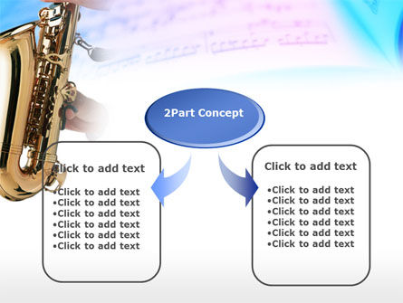 Jazz Saxophone PowerPoint Template, Slide 4, 00757, Art & Entertainment — PoweredTemplate.com