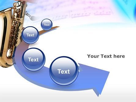 Jazz Saxophone PowerPoint Template Slide 6