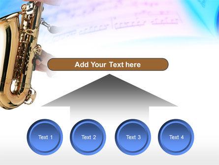 Jazz Saxophone PowerPoint Template Slide 8