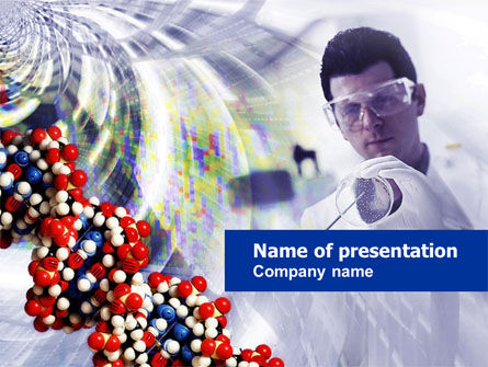 Technology and Science: DNA Experiments PowerPoint Template #00758