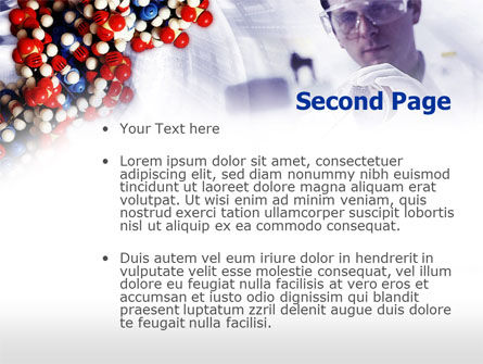 DNA Experiments PowerPoint Template, Slide 2, 00758, Technology and Science — PoweredTemplate.com