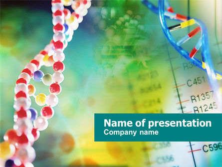DNA PowerPoint Template, 00759, Technology and Science — PoweredTemplate.com