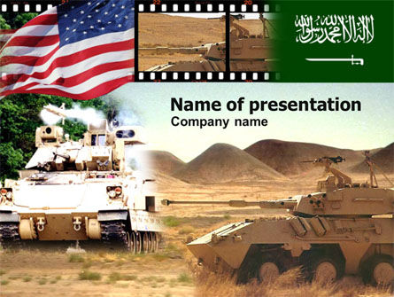 Military: Using Artillery In Modern APC PowerPoint Template #00760