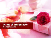 Holiday/Special Occasion: Romantic Present PowerPoint Template #00761