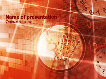 Business Timing Free PowerPoint Template, 00762, Business Concepts — PoweredTemplate.com