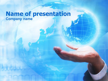Global: Crystal Globe PowerPoint Template #00763