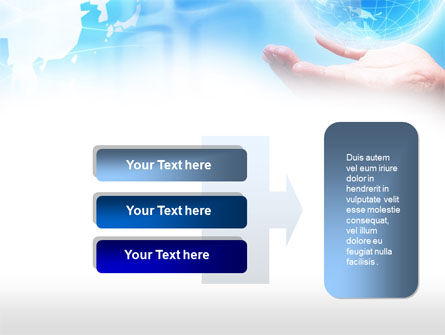 Crystal Globe PowerPoint Template Slide 11