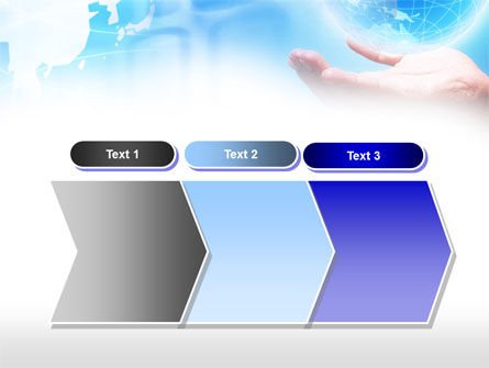 Crystal Globe PowerPoint Template Slide 16