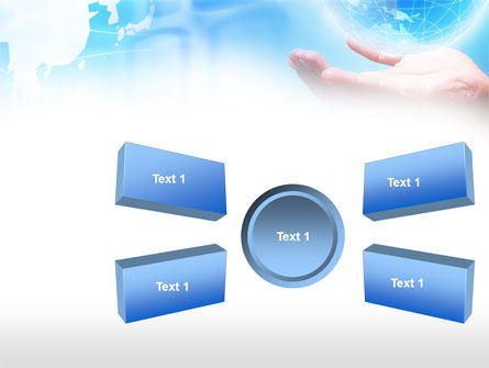 Crystal Globe PowerPoint Template Slide 6