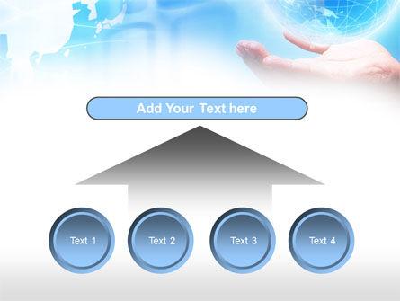 Crystal Globe PowerPoint Template Slide 8