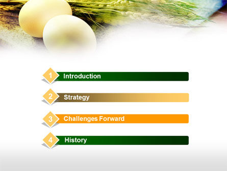 Eggs and Cereals PowerPoint Template, Slide 3, 00764, Food & Beverage — PoweredTemplate.com