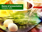 Food & Beverage: Eggs and Cereals PowerPoint Template #00764