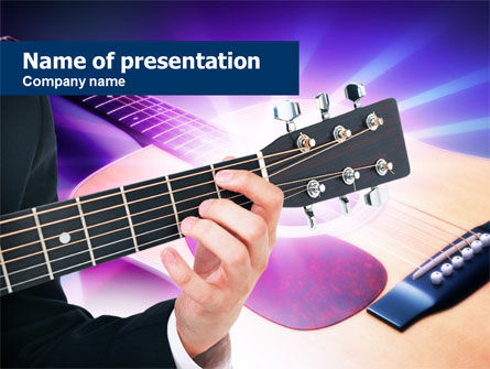 Art & Entertainment: Guitar Lessons PowerPoint Template #00765