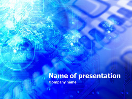 Technology and Science: Microcircuit PowerPoint Template #00766
