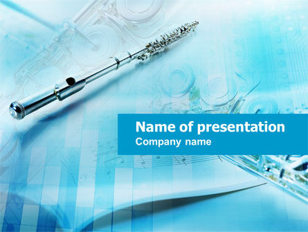 Art & Entertainment: Woodwind Instruments PowerPoint Template #00768