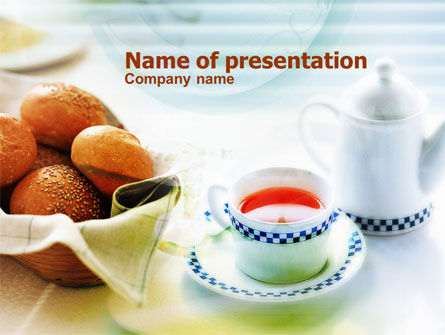 Morning Tea PowerPoint Template, 00771, Food & Beverage — PoweredTemplate.com