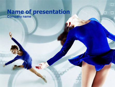 figure skating powerpoint template backgrounds 00774