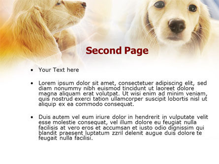 Puppies PowerPoint Template, Slide 2, 00775, Animals and Pets — PoweredTemplate.com