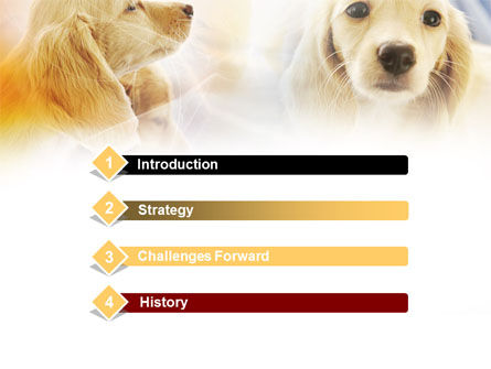 Puppies PowerPoint Template, Slide 3, 00775, Animals and Pets — PoweredTemplate.com