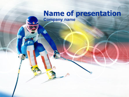 Winter Olympic Games Powerpoint Template Backgrounds 00776