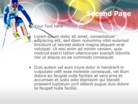 Winter Olympic Games PowerPoint Template, Slide 2, 00776, Sports — PoweredTemplate.com