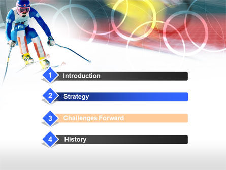 Winter Olympic Games PowerPoint Template, Slide 3, 00776, Sports — PoweredTemplate.com