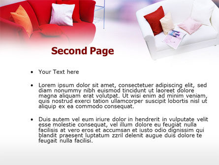 Red Sofa PowerPoint Template Slide 2