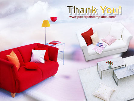 Red Sofa PowerPoint Template Slide 20
