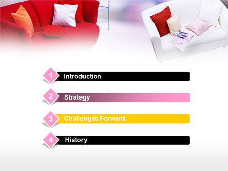 Red Sofa PowerPoint Template, Slide 3, 00778, Careers/Industry — PoweredTemplate.com