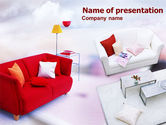 Careers/Industry: Red Sofa PowerPoint Template #00778
